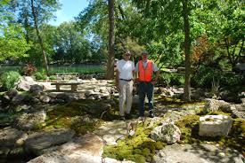 constructing the moss gardens at rotary botanical gardens