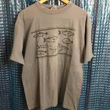 Badger Sportswear Size Chart Vintage Grey Fish Chart Tee