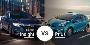 Toyota Prius Comparison Chart Honda Insight Vs Toyota Prius Thriftiness Shootout