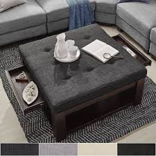 coffee table ottomans incredible ottoman ideas it s time to go hybrid intended for 9