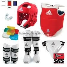 Adidas Shin Guards Youth Size Chart Adidas Complete Taekwondo Sparring Gear Set W Shin Instep Guards