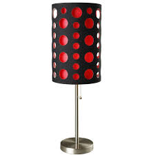 black and red stainless steel high modern retro table lamp