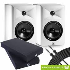 jbl 305 white. jbl lsr305 white monitors (pair) with isolation pads \u0026 cables jbl 305 3