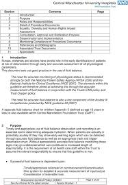 Fluid Balance Chart Definition Document Control Page Pdf Free Download
