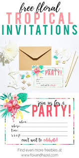 Tropical Party Invitations Free Printable Tropical Party Invitation Diy Parties Party