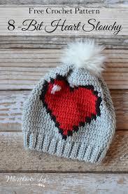 Heart Crochet Pattern Impressive Crochet 48Bit Heart Slouchy Whistle And Ivy