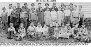 Andes School Class ca. 1920 - Delaware County NY Genealogy and History Site