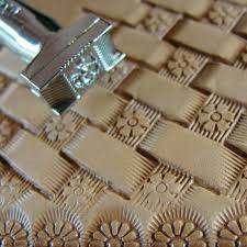 details about pro crafters series flower center basket weave stamp leather stamping tool