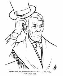 Small Picture USA Printables President Abraham Lincoln tophat coloring 16th