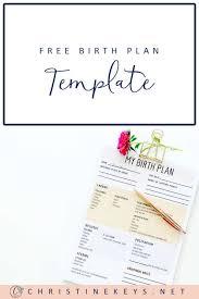 My Birth Plan Template Free Birth Plan Template Christine Keys