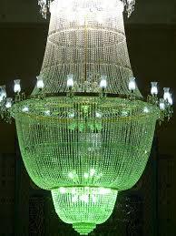 chandelier crystal glass light white green