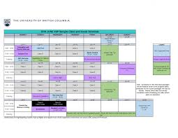 Sample Of Schedules Vancouver Summer Program Sample Schedule