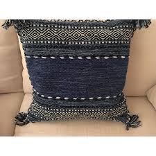 dwell studio furniture. Dwell Studio Blue Patterned Pillow; Pillow-0 Furniture
