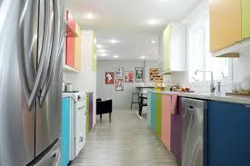 yellow retro inspired kitchen