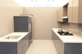 parallel kitchen design. parallel grey \u0026 white kitchen design