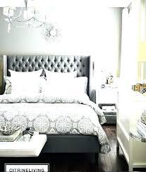 Gray Tufted Bed Upholstered Beds Headboards Frame King Light ...