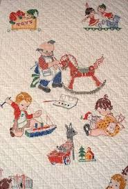 Vintage Baby Quilt Applique Animals Embroided 1950s | Parenting ... & Vintage baby quilt Adamdwight.com