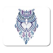 LADDKE <b>Owl</b> Tribal Pattern <b>Ethnic</b> Tattoo Aztec Swirly Mousepad ...