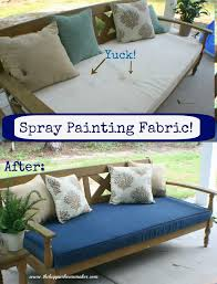 yes you can spray paint fabric this step by step tutorial shows you how