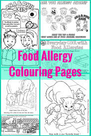 A Collection Of Food Allergy Colouring