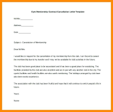 Gym Cancellation Letter Template Business Contract Cancellation Letter Termination Template