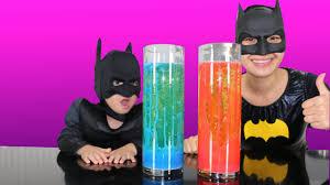 home made lava lamp experiment with batman and mumma bat cool kids activity ckn toys