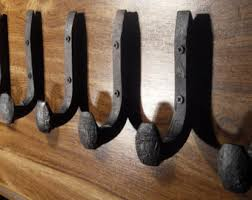Wall Coat Rack With Hooks Free Shipping 100 Antique Wall Hooks Old Railroad Spikes Wrought Iron 29