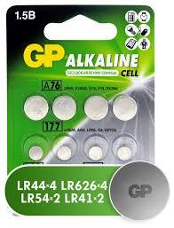 <b>Батарейка GP Набор</b> Alkaline Cell LR44, LR41, LR626, LR54 ...