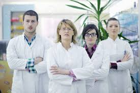 medical s stock photos images royalty medical s medical s team of pharmacist chemist w and man group standing in pharmacy drugstore stock