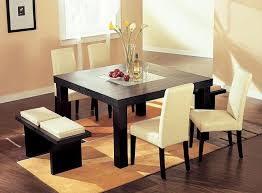 minimalist dining room design with square table using homemade centerpieces white upholstery chair square dining room table decor i12 table