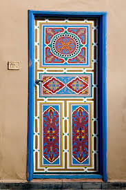 Plain Cool Door Painting Ideas Moroccan Design With Beautiful