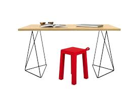 desks desk trestle legs contemporary flow modern study furniture in wild oak top and trestles