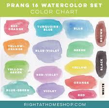 16 Color Chart Prang Oval 16 Color Watercolor Set Product Review Color