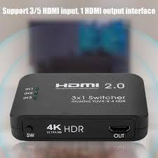 HDMI 2.0 3-Input 1-Output <b>Switch Switcher</b> Splitter Hub <b>AYS</b>-<b>31V20</b> ...