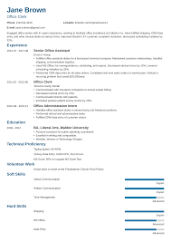 Resume For Clerical Position Office Clerk Resume Sample Writing Guide 20 Examples