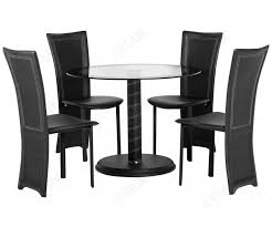 seconique cameo round glass dining table with 4 dining chairs