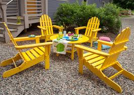 furniture made of recycled materials. Recycled Plastic Adirondack Chairs In Yellow Furniture Made Of Materials A