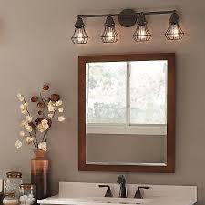 rustic bathroom vanity lights. Rustic Bathroom Vanity Lights Master Bath Kichler Lighting 4 Light Bayley Olde Bronze O
