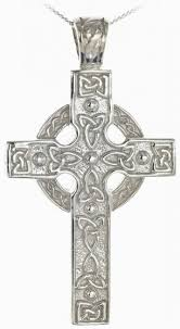 silver heavy thick celtic knot cross