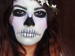 easy last minute makeup only costume tutorial ideas pastel mint green lilac purple skull