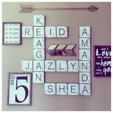 Scrabble Letter Wall Decor Scrabble Wall Tiles Gallery Wall Signs Large Scrabble Tiles