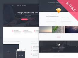 Website Html Templates New Sedna One Page Website Template Freebiesbug