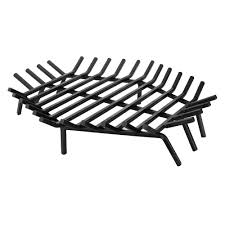 uniflame 30 in x 30 in black hexagon shape bar fireplace grate c and fireplace grates