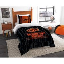 oklahoma state 2 piece modern take multi twin comforter set