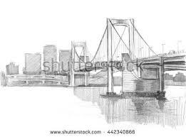 pencil sketch of tokyo bridge architectural drawings bridges65 bridges