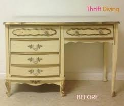 laminate furniture makeover. How To Paint Your Old French Provincial Furniture Desk Diy Laminate Makeover