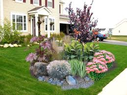 Another front of house island garden bed inspiration idea