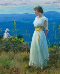 Oil on canvas by Charles Courtney Curran (Am., 1861-1942) realizes ...