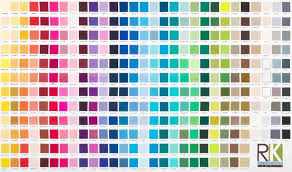 color chart kona cotton printed color chart