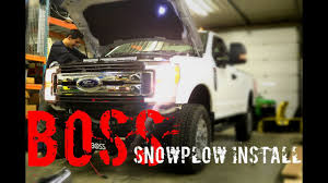 boss plow install 2017 f 250 how to youtube Boss Plow Wiring Harness Diagram at Boss Plow Wiring Diagram Truck Side